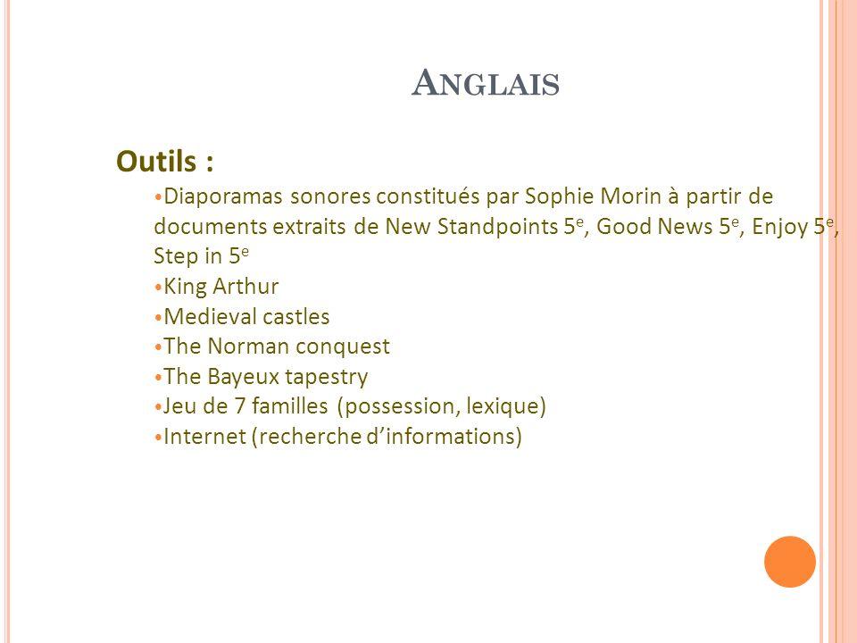 Anglais Outils :
