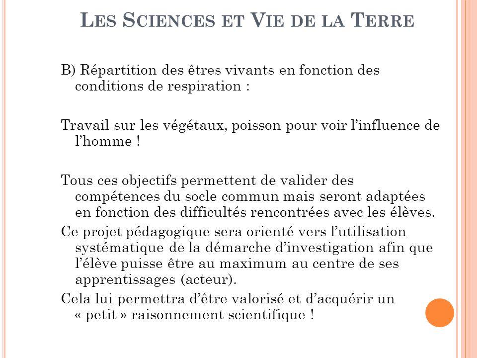 Les Sciences et Vie de la Terre