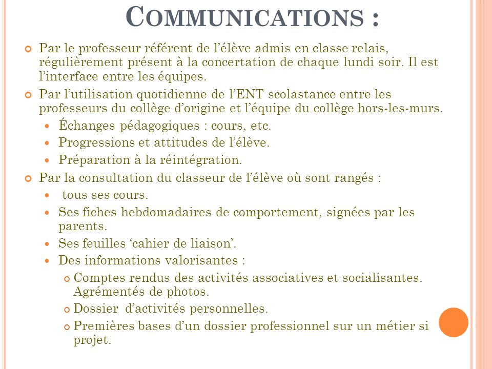 Communications :