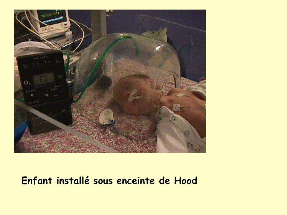 Enfant installé sous enceinte de Hood