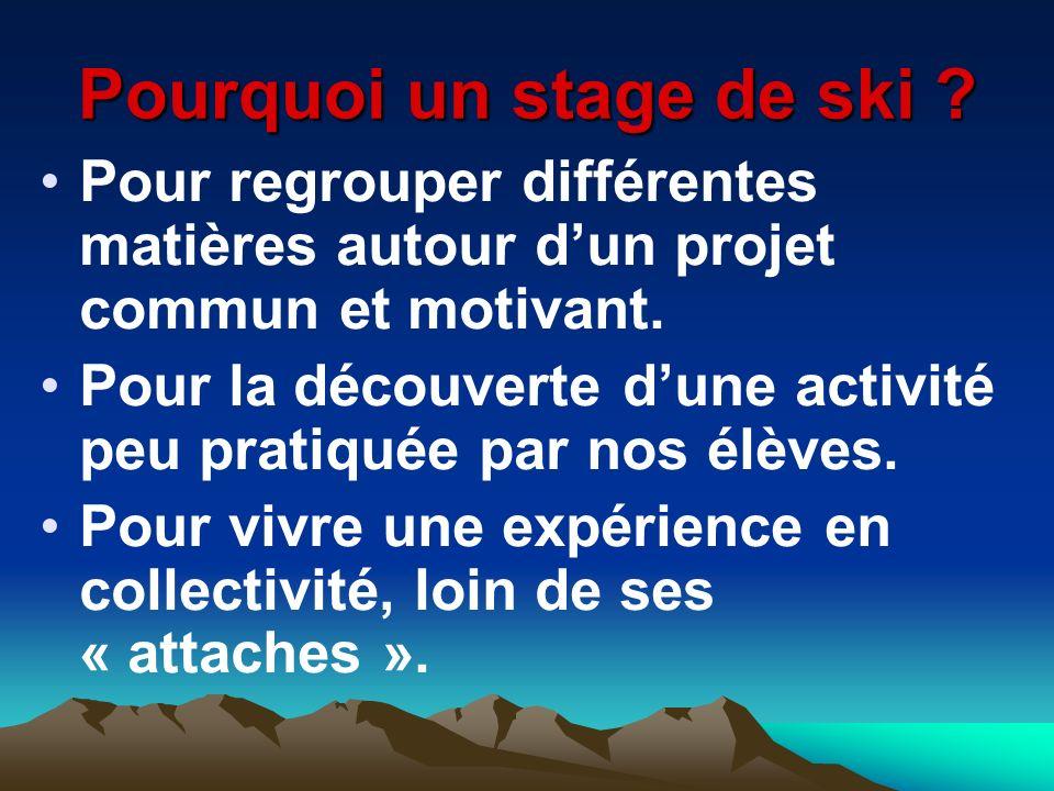 Pourquoi un stage de ski