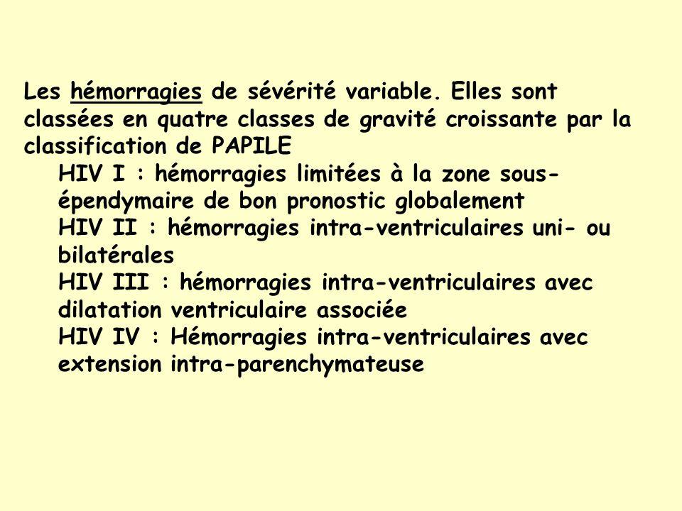 Les hémorragies de sévérité variable