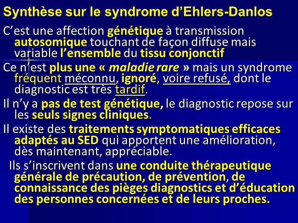 Synthèse sur le syndrome d'Ehlers-Danlos