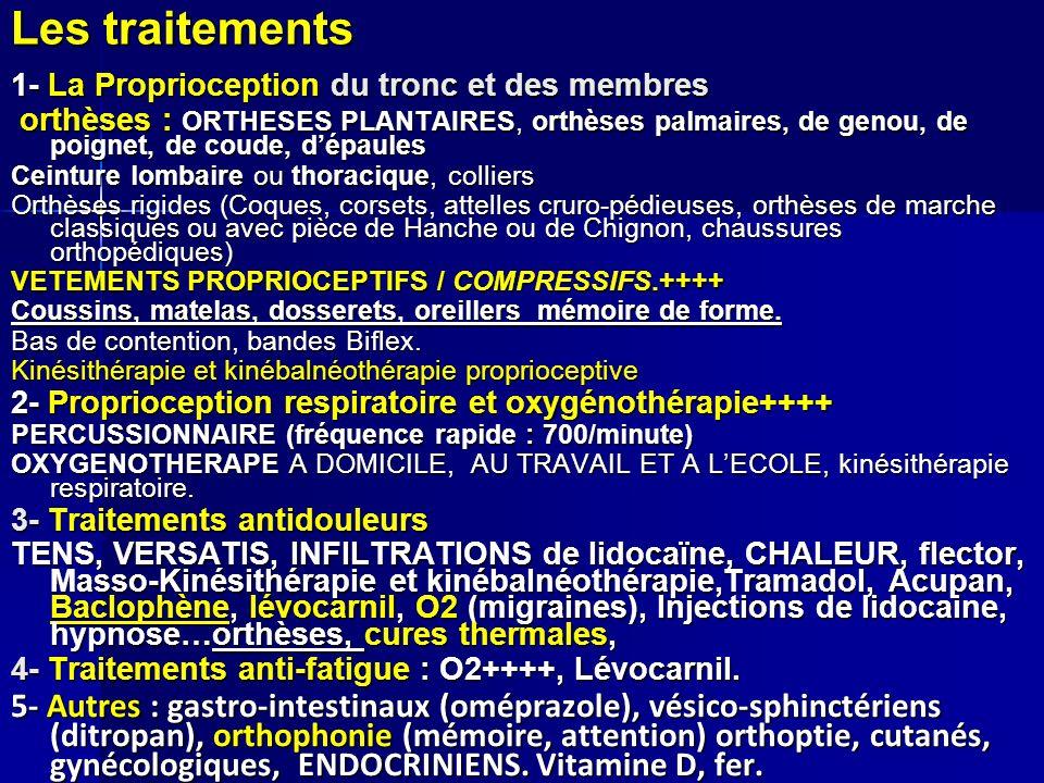 Les traitements 1- La Proprioception du tronc et des membres.