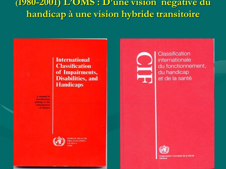 (1980-2001) L'OMS : D'une vision négative du handicap à une vision hybride transitoire