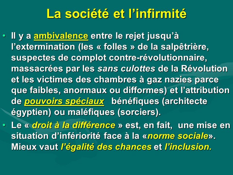 La société et l'infirmité