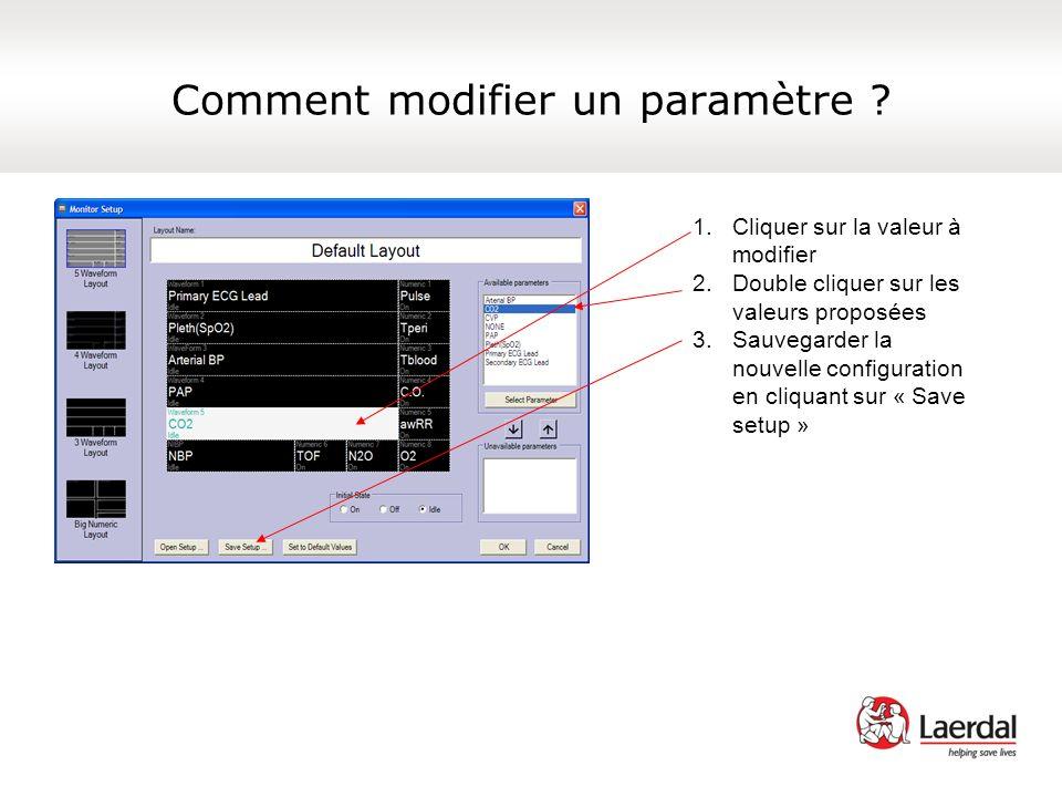 Comment modifier un paramètre