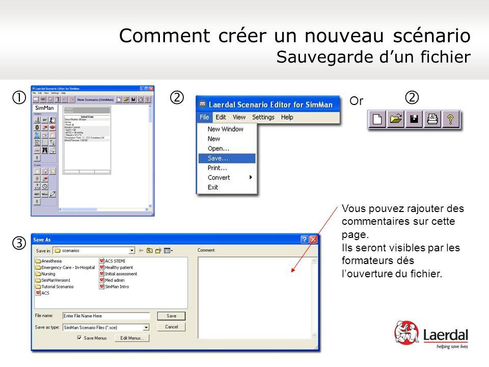 Comment créer un nouveau scénario Sauvegarde d'un fichier