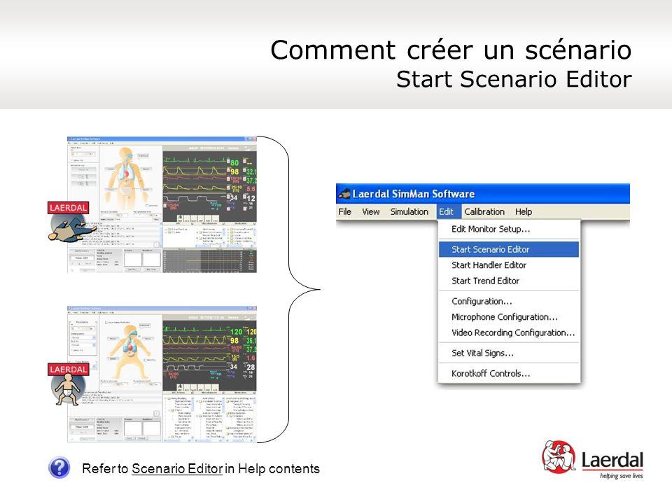 Comment créer un scénario Start Scenario Editor