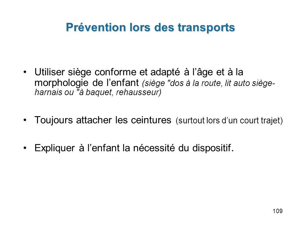 Prévention lors des transports