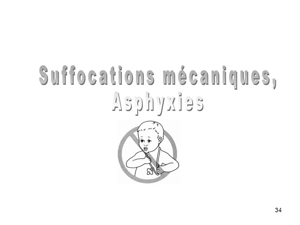 Suffocations mécaniques,