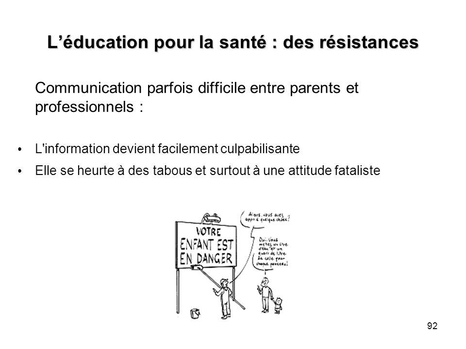 L'éducation pour la santé : des résistances