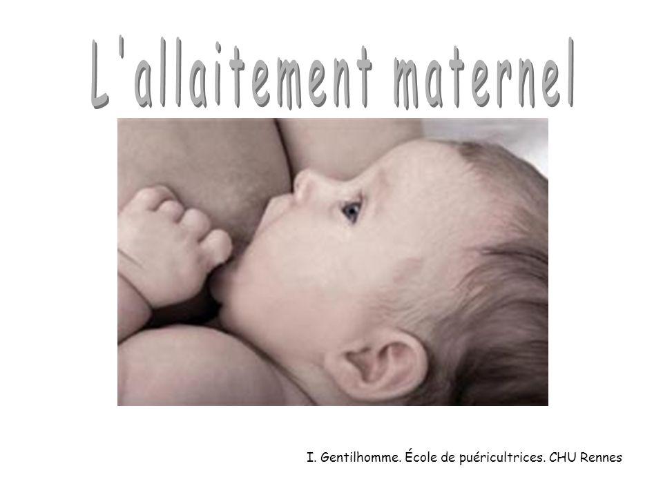 L allaitement maternel