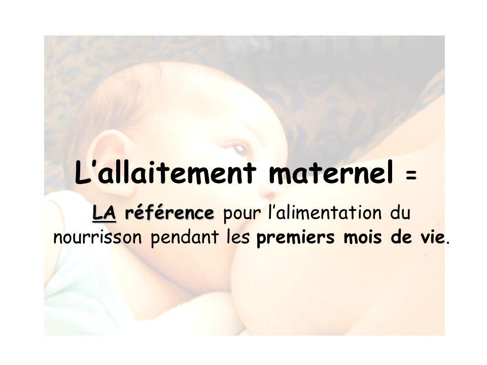 L'allaitement maternel =