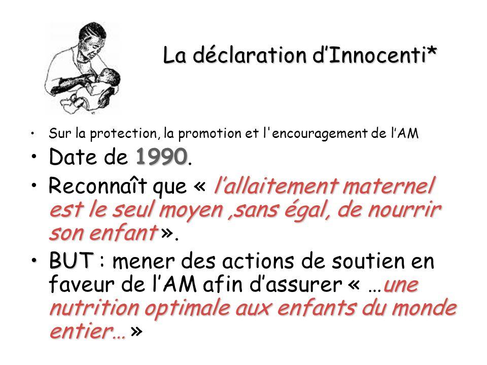 La déclaration d'Innocenti*