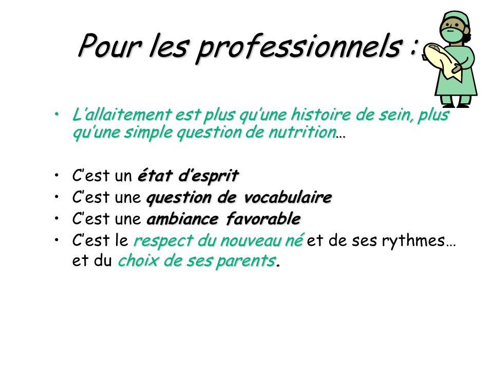 Pour les professionnels :