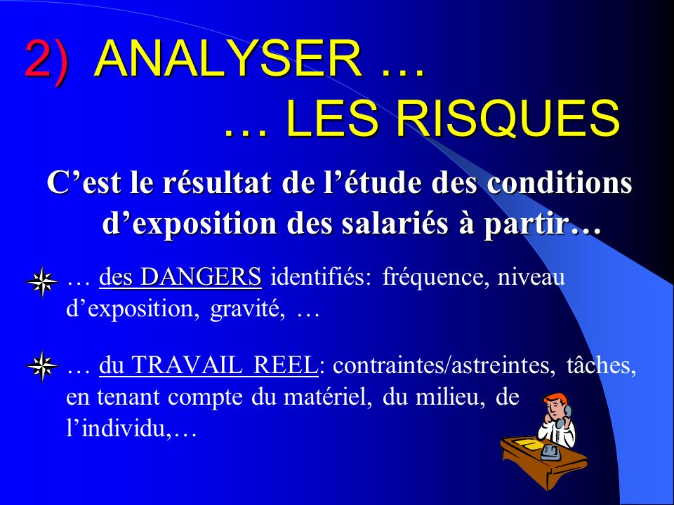 2) ANALYSER … … LES RISQUES