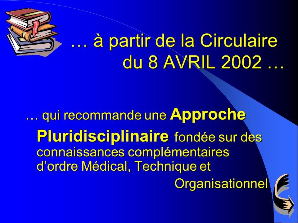 … à partir de la Circulaire du 8 AVRIL 2002 …