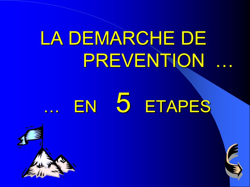 LA DEMARCHE DE PREVENTION …