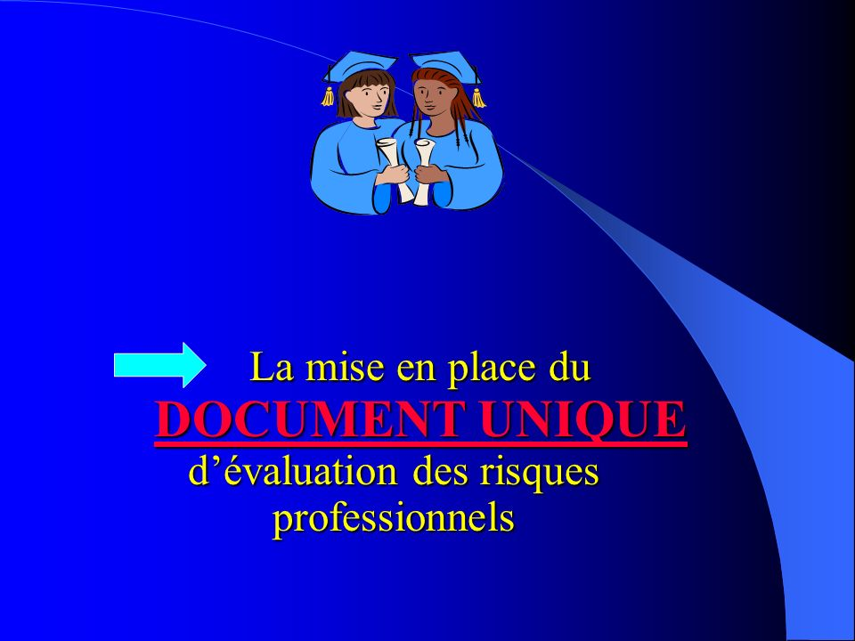 La mise en place du DOCUMENT UNIQUE d'évaluation des risques professionnels