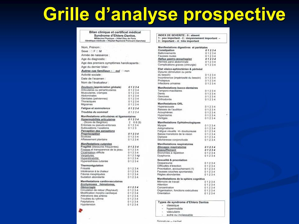 Grille d'analyse prospective