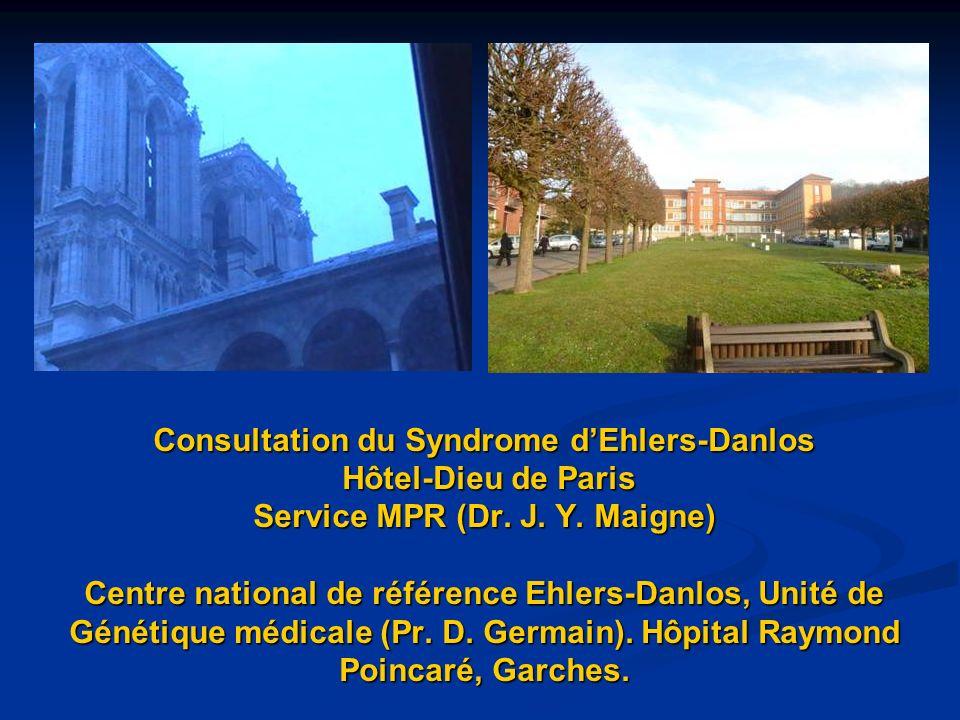 Consultation du Syndrome d'Ehlers-Danlos Hôtel-Dieu de Paris Service MPR (Dr.