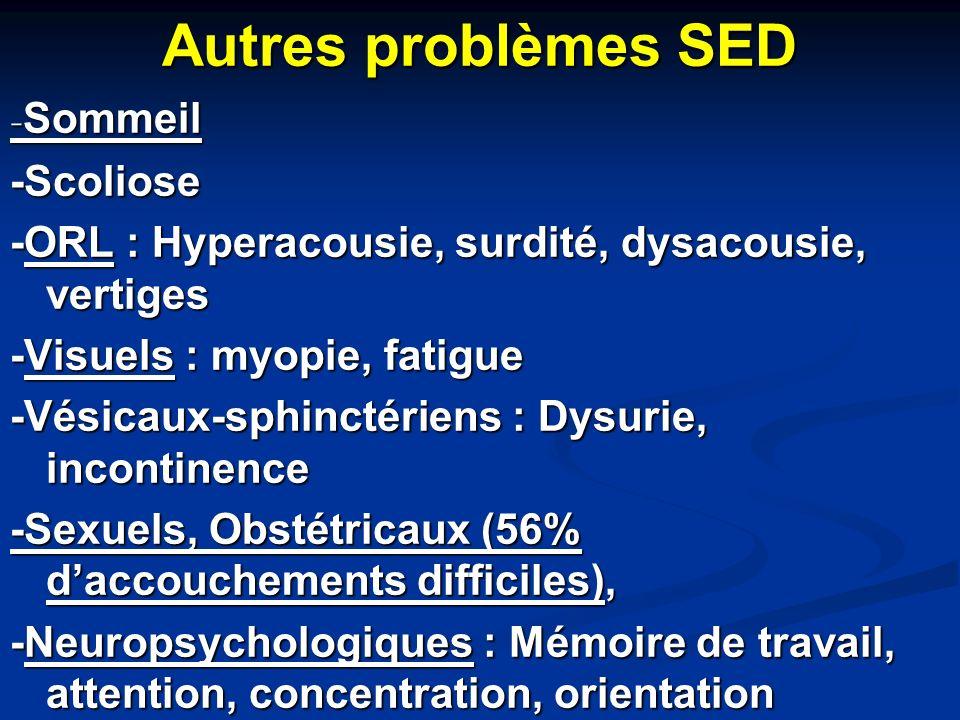 Autres problèmes SED