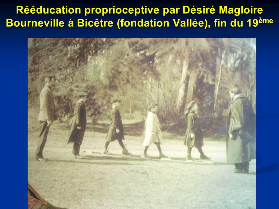 Rééducation proprioceptive par Désiré Magloire Bourneville à Bicêtre (fondation Vallée), fin du 19ème
