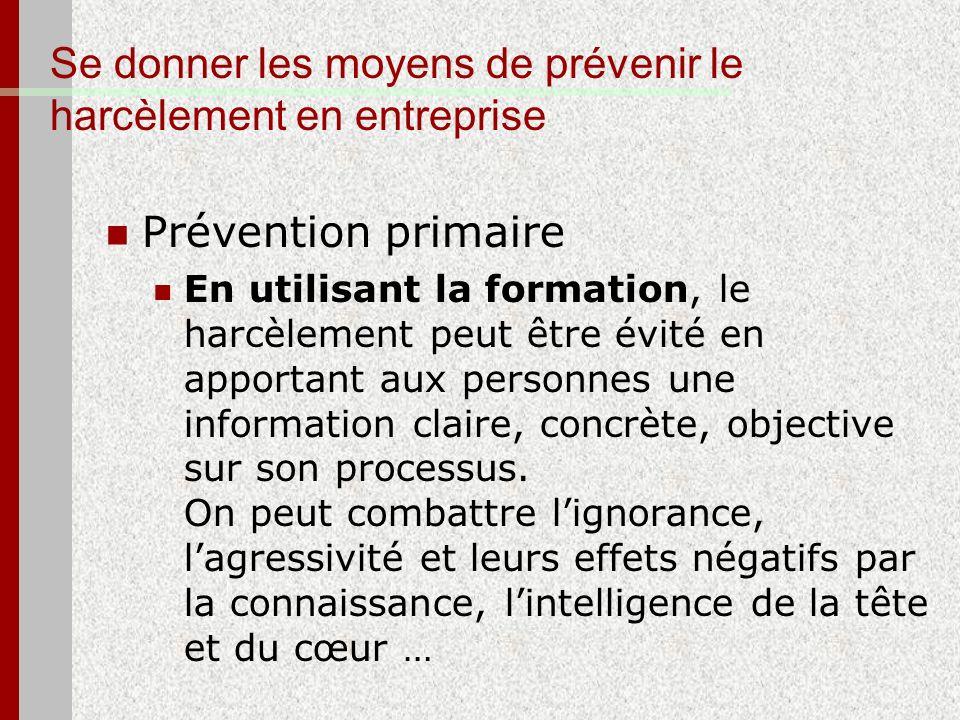 Se donner les moyens de prévenir le harcèlement en entreprise