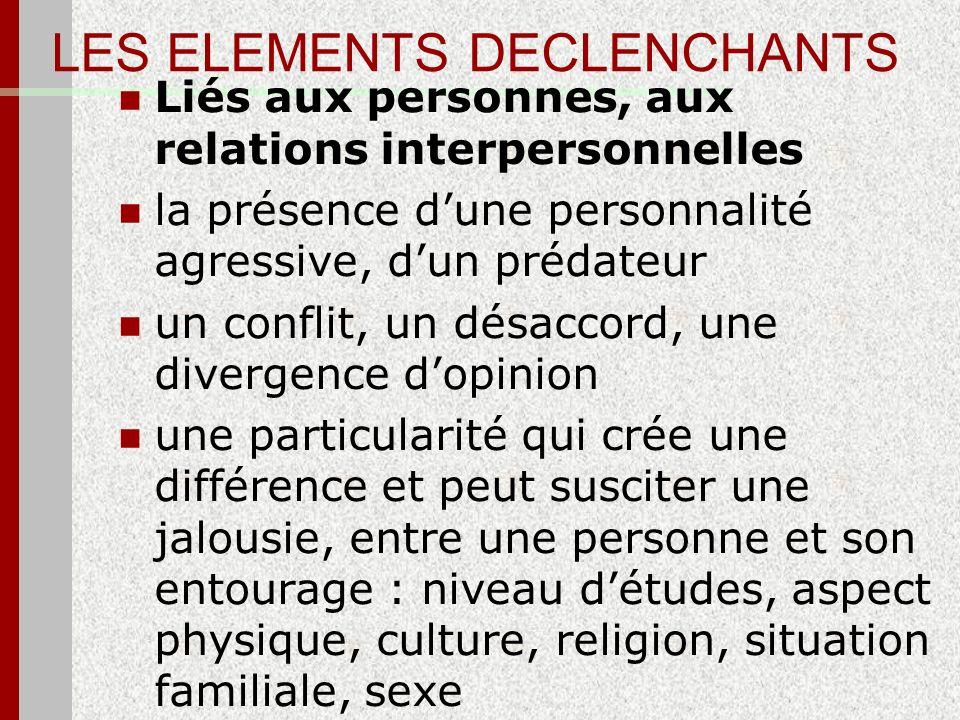 LES ELEMENTS DECLENCHANTS