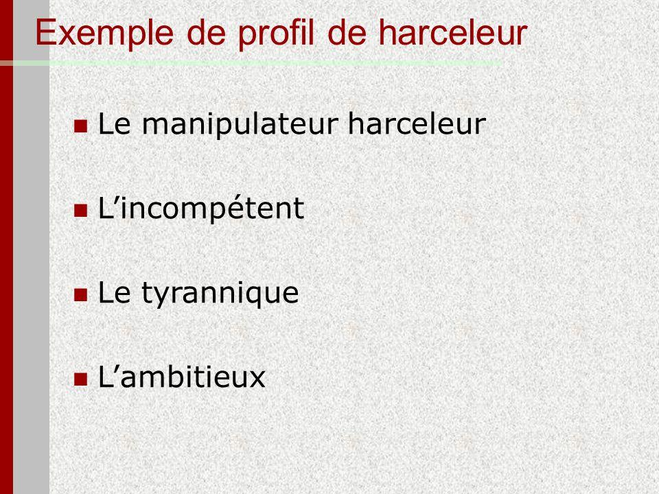 Exemple de profil de harceleur