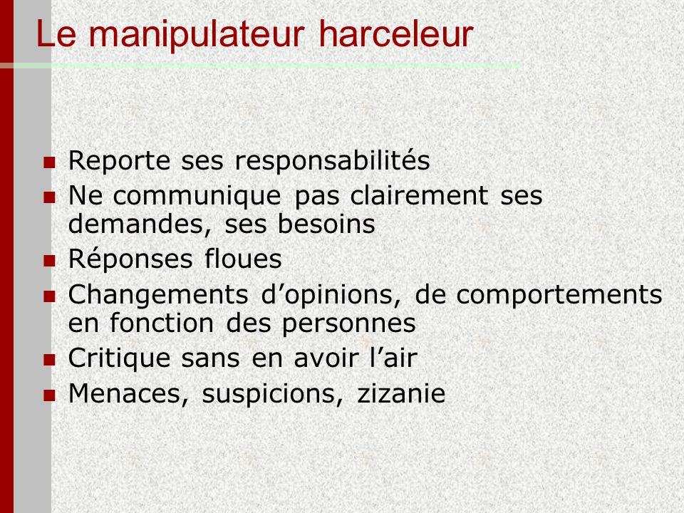 Le manipulateur harceleur