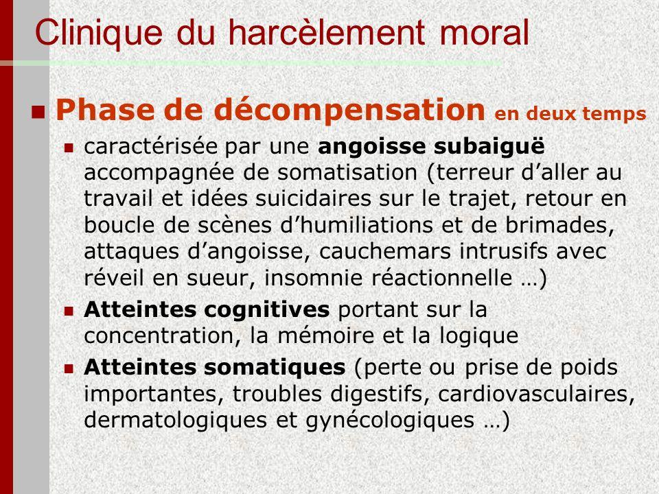 Clinique du harcèlement moral