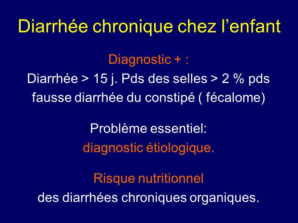 Diarrhée chronique chez l'enfant