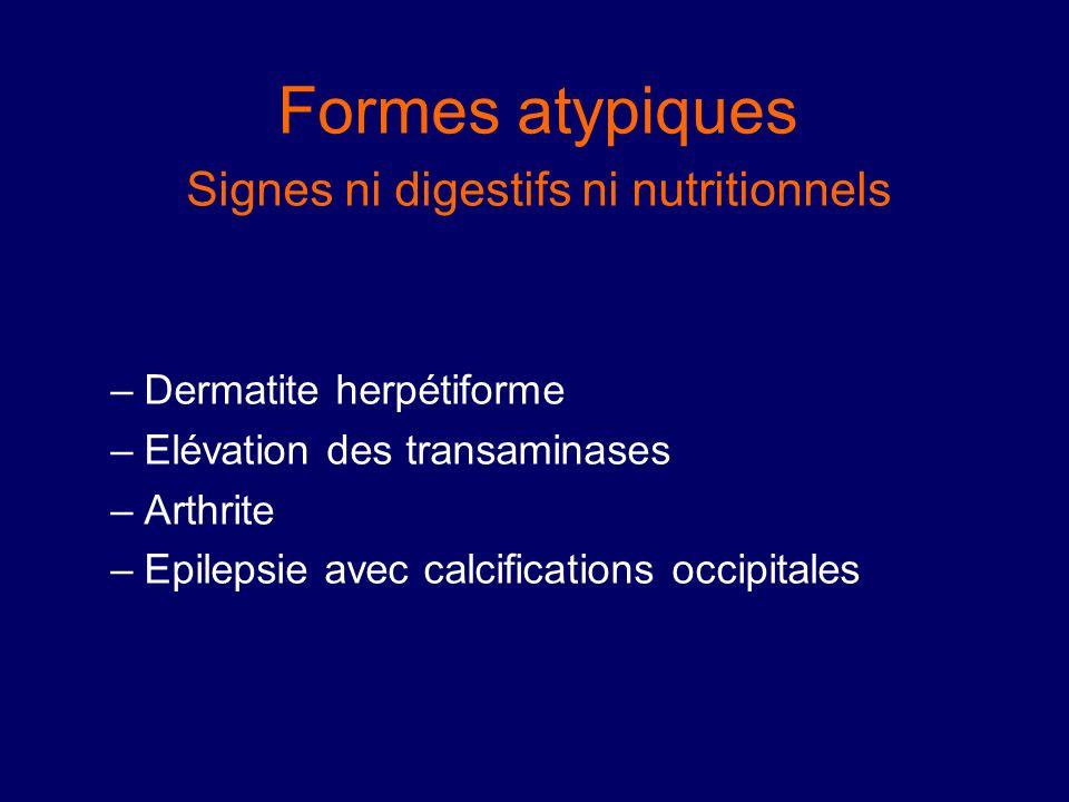 Signes ni digestifs ni nutritionnels