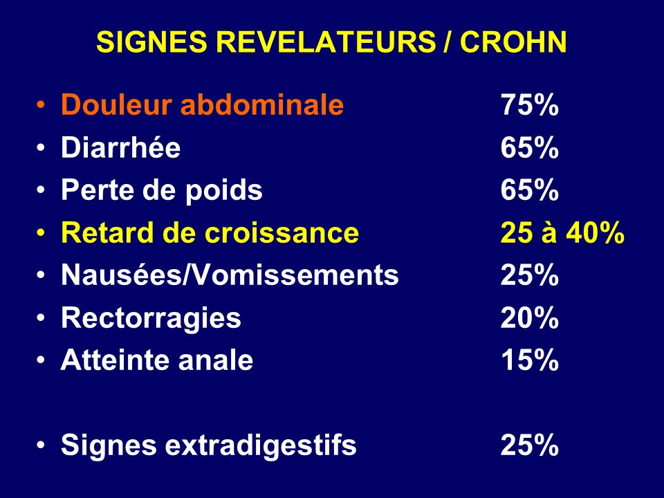 SIGNES REVELATEURS / CROHN