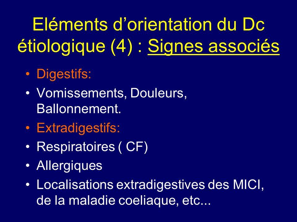 Eléments d'orientation du Dc étiologique (4) : Signes associés