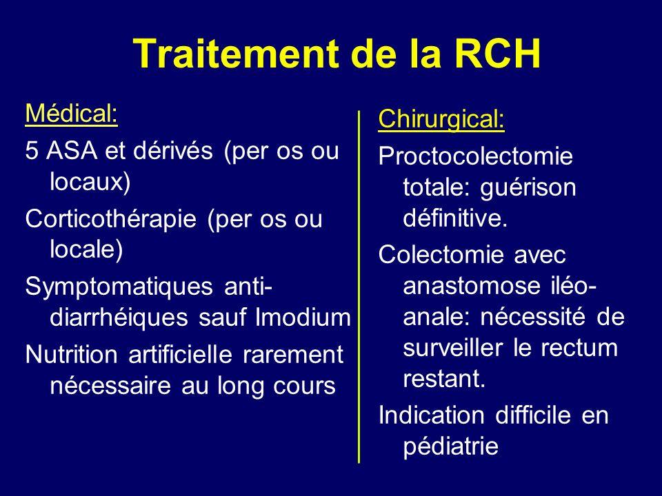Traitement de la RCH Médical: Chirurgical: