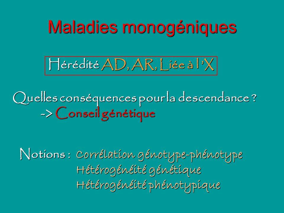 Maladies monogéniques