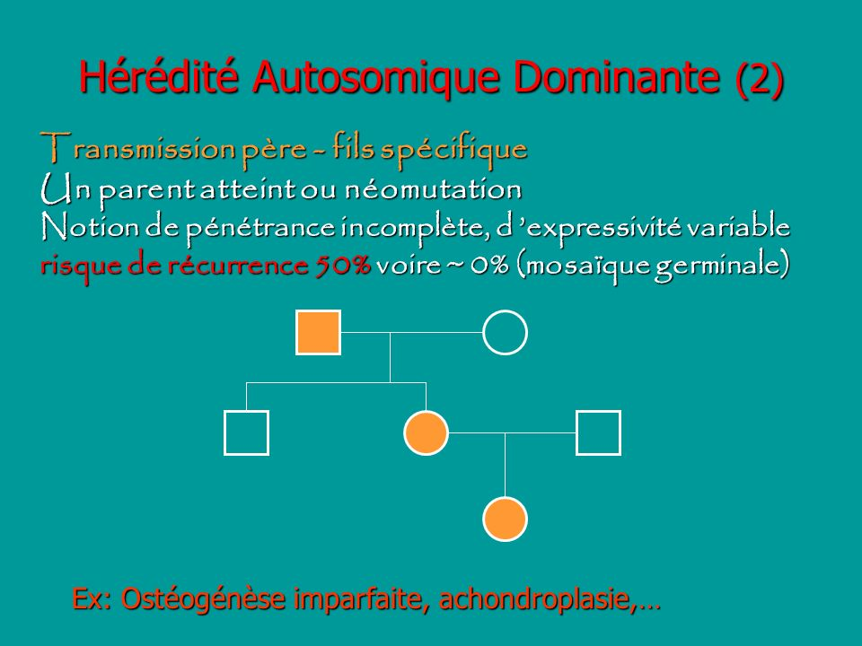 Hérédité Autosomique Dominante (2)
