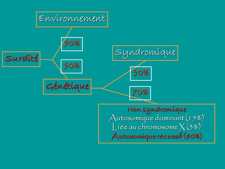 Environnement Syndromique Surdité Génétique