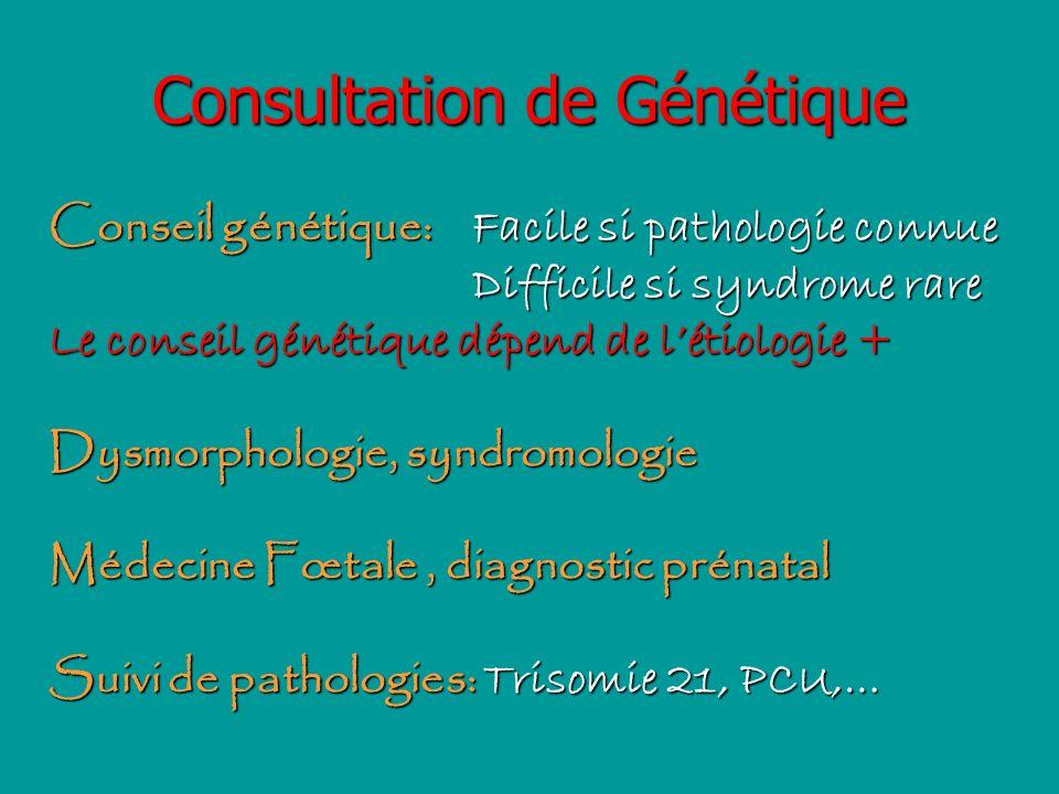 Consultation de Génétique