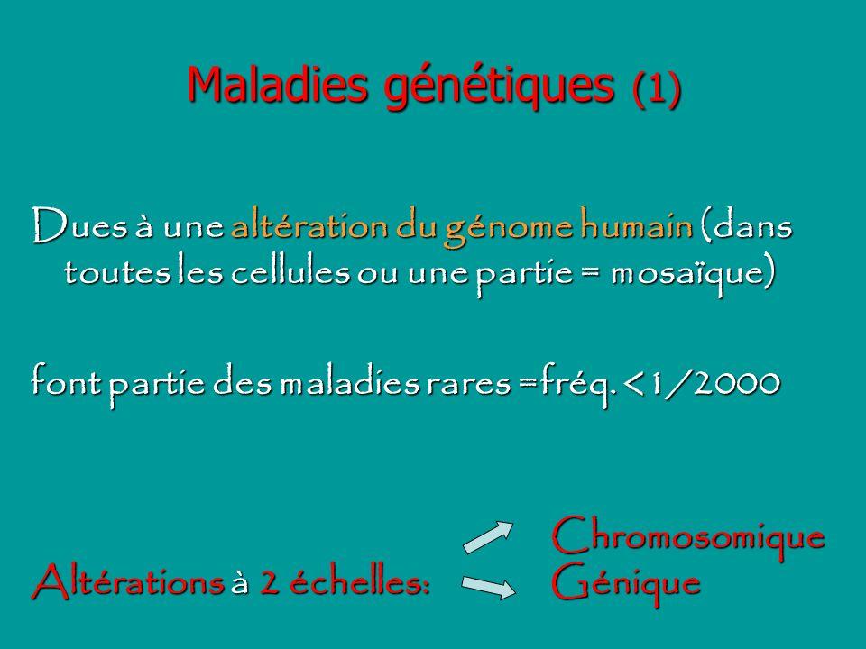 Maladies génétiques (1)