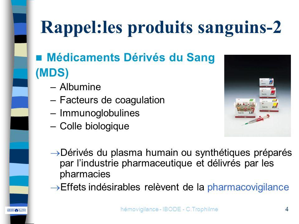 Rappel:les produits sanguins-2
