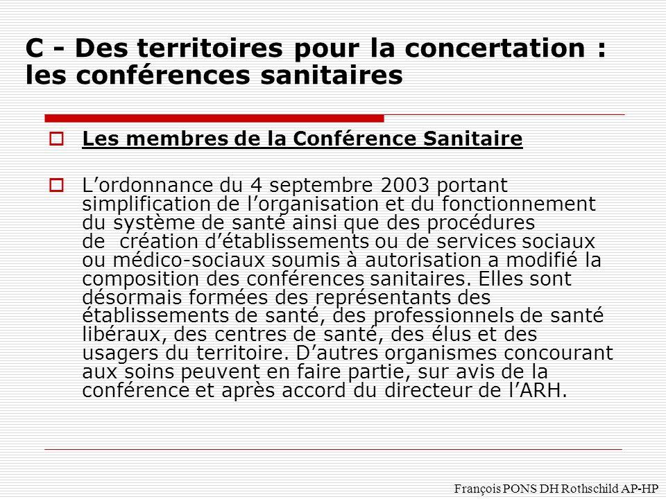 C - Des territoires pour la concertation : les conférences sanitaires