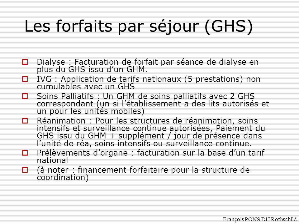 Les forfaits par séjour (GHS)