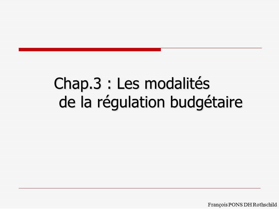 de la régulation budgétaire