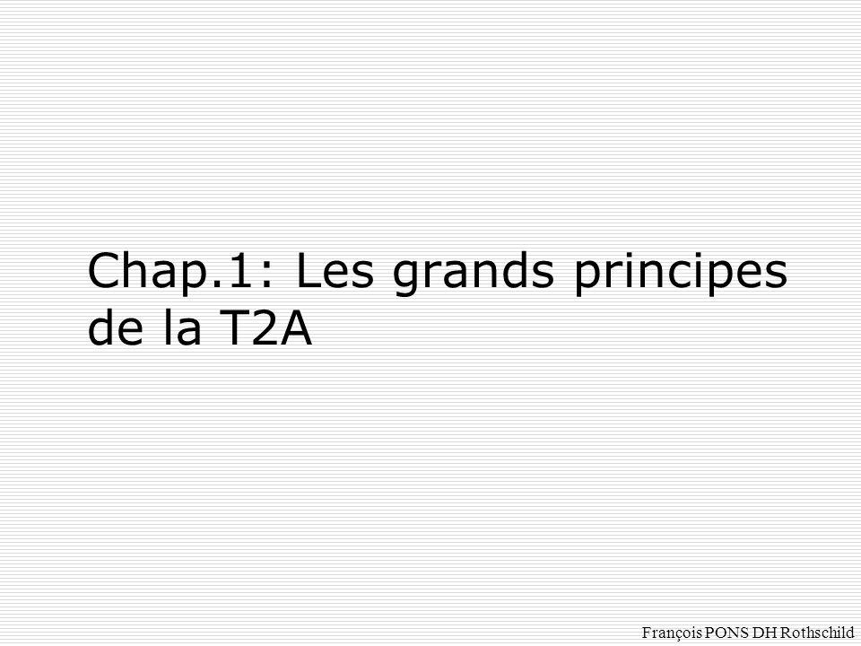 Chap.1: Les grands principes de la T2A