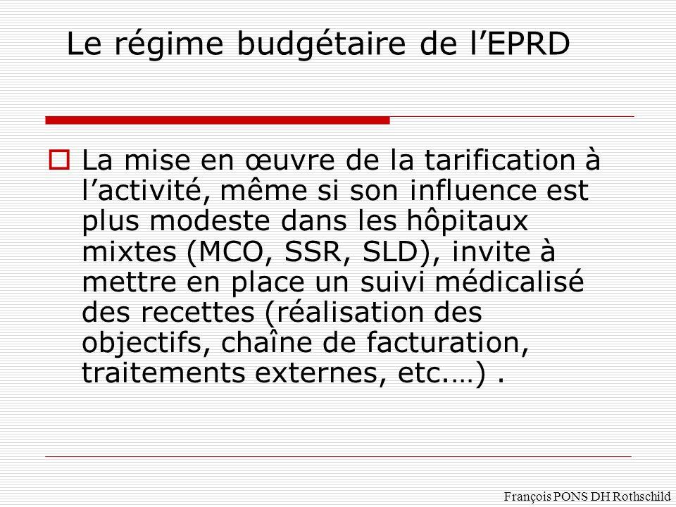Le régime budgétaire de l'EPRD