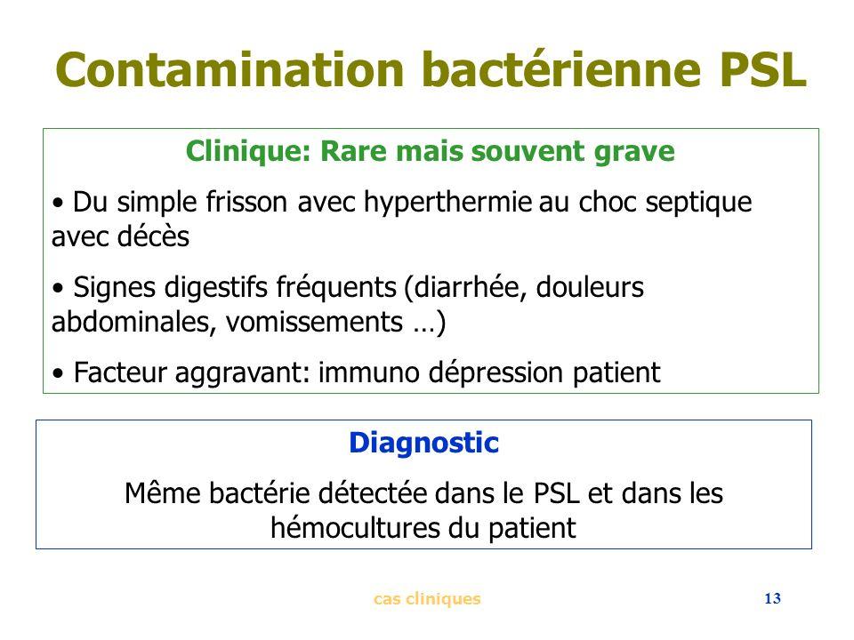 Contamination bactérienne PSL